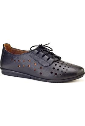 Cabani Lazerli Comfort Günlük Kadın Ayakkabı Siyah