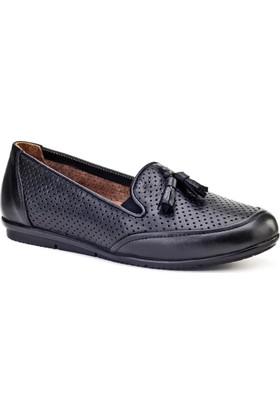 Cabani Fiyonklu Comfort Günlük Kadın Ayakkabı Siyah