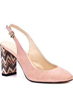 Cabani Günlük Kadın Ayakkabı Pembe Suet