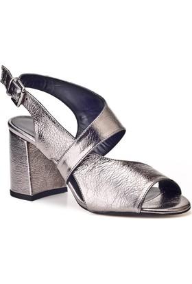Cabani Günlük Kadın Ayakkabı Gri Deri