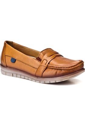 Cabani Günlük Kadın Ayakkabı Taba Deri