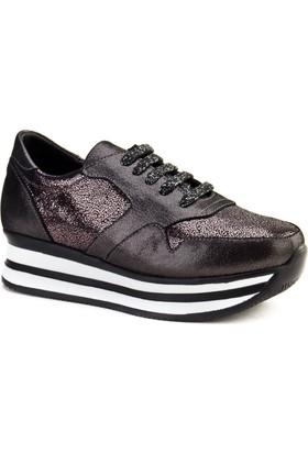 Cabani Bağcıklı Sneaker Kadın Ayakkabı Siyah