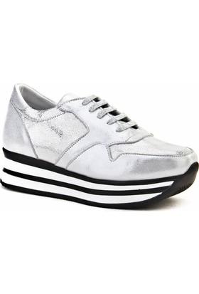 Cabani Bağcıklı Sneaker Kadın Ayakkabı Gri