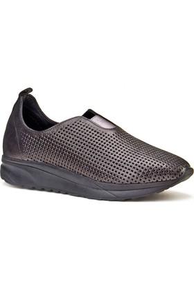 Cabani Lazerli Lgiht Taban Sneaker Kadın Ayakkabı Siyah