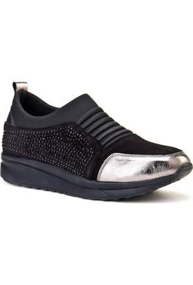 Cabani Taş Aksesuarlı Sneaker Kadın Ayakkabı Siyah