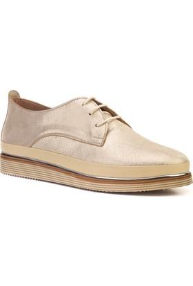 Cabani Günlük Kadın Ayakkabı Bej Deri