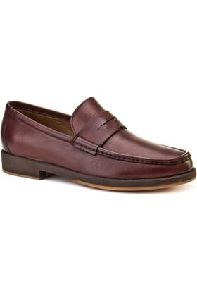 Cabani Loafer Günlük Erkek Ayakkabı Kahve Sanetta Deri