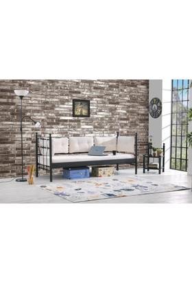 Unimet Lalas Metal Sofa Sedir Siyah(Mindersiz)