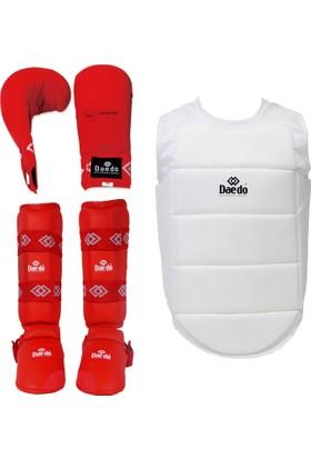 Daedo Karate Koruyucu Set Kırmızı