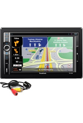 Techlink TE-6500 Navigasyonlu DVD USB SD Double Teyp + Kamera