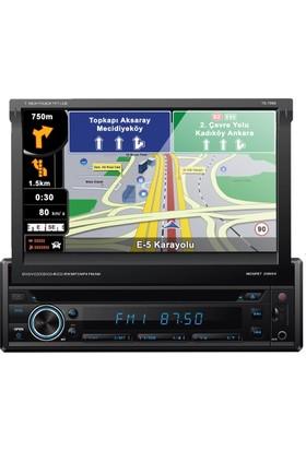 Techlink TE-7600 Navigasyon DVD USB İndash Oto Teyp Bluetooth