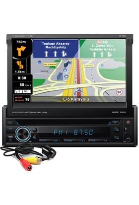 Techlink TE-7600 Navigasyon DVD USB İndash Oto Teyp Bluetooth + Kamera