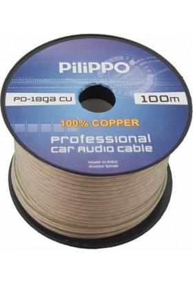Pilippo PO-18GA 100 M Hoparlör Kablo %100 Bakır