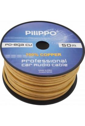 Pilippo PO-8GA 50 M Amfi Güç Kablosu %100 Bakır