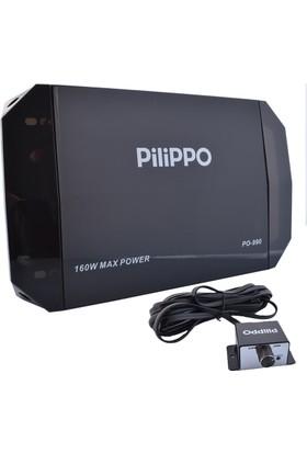 Pilippo PO-990 2 Kanal 160 Watt Oto Anfi Amfi