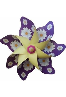 Polin Garden Duvara Asmalı Rüzgargülü Çap 33 cm - Papatya Baskılı