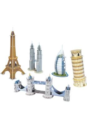 CubicFun 3D Puzzle Mini Mimari Yapılar Seri 1 C056H