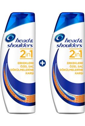 Head & Shoulders 2'si 1 Arada Şampuan Erkeklere Özel Saç Dökümelerine Karşı 2 x 500 ml