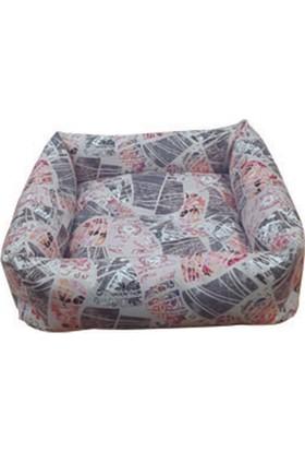 Mrs.Pillow Alaçatı 05 Desenli Kedi Ve Köpek Yatakları 45X45Cm
