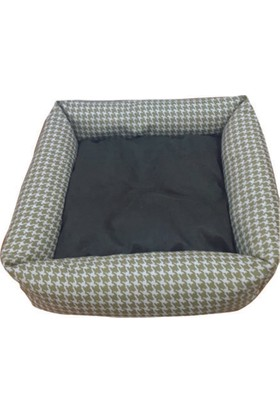 Mrs.Pillow Feriha Yeşil Desenli Kedi Ve Köpek Yatakları 45X45Cm