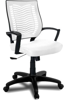 YMV Ofis Koltuğu, Ofis Sandalyesi, Show Çalışma ve Bilgisayar Sandalyesi , Beyaz