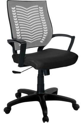 YMV Ofis Sandalyesi, Çalışma ve Bilgisayar Sandalyesi , Gri sırt
