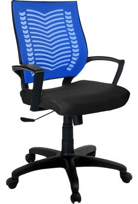 YMV Ofis Sandalyesi, Çalışma ve Bilgisayar Sandalyesi , Mavi Sırt