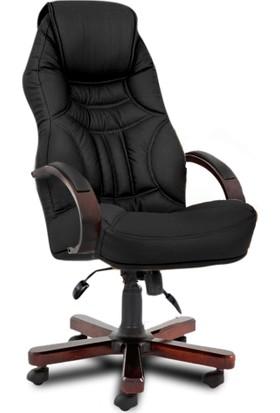 YMV Ofis Koltuğu, Ofis Sandalyesi, Uzay Ahşap Müdür Koltuğu, Yönetici Koltuğu, Siyah
