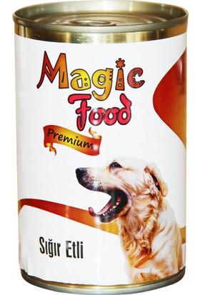 Magic Food Premium Sığır Etli 415 gr Konserve Köpek Maması (Yaş Mama)