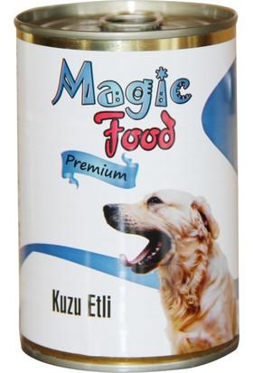 Magic Food Premium Kuzu Etli 415 gr Konserve Köpek Maması (Yaş Mama)