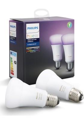 Philips Hue Renkli Akıllı Ampul 2'li Ekopaket E27