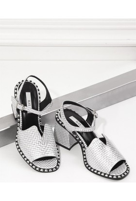İlvi North 2350 Sandalet Gümüş Kareli