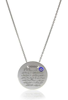 Söğütlü Silver Ayetel Kürsü Yazılı Plaka Kolye Sgtl5795