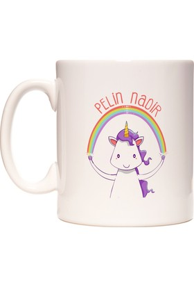 Unicorn Boynuzlu At İsme Özel Kupa Bardak