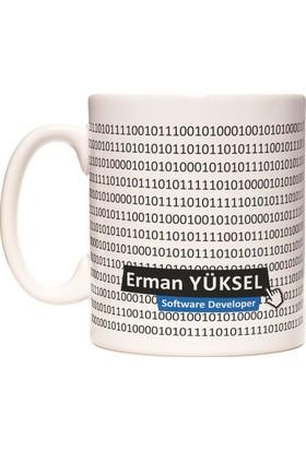 Yazılımcı Coder Kişiye İsme Özel Meslek Kupa Bardak