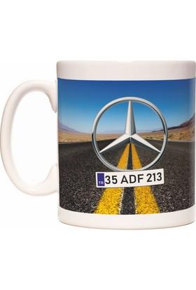 Mercedes Kişiye İsme Özel Plaka Yazılabilir Kupa Bardak