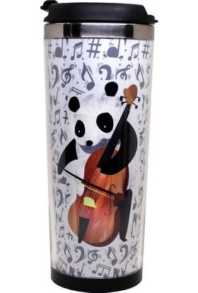 Modaroma Müzisyen Panda Termos Bardak