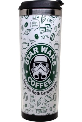 Modaroma Star Wars Coffe Beyaz Termos Bardak