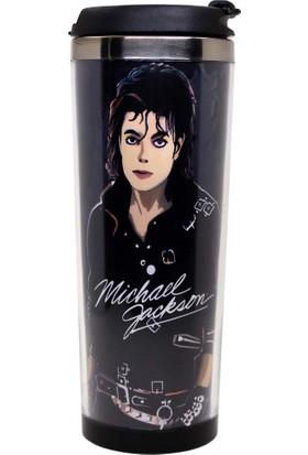Modaroma Michael Jackson Siyah Termos Bardak