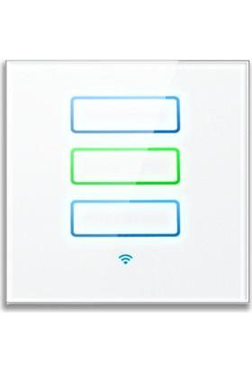 XenonSmart WiFi Akıllı Dokunmatik Perde Panjur Anahtarı Beyaz XS-DAAPB
