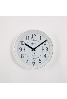 Regal 0225 WWL Gece Işıklı, Sese Duyarlı Duvar Saati Beyaz