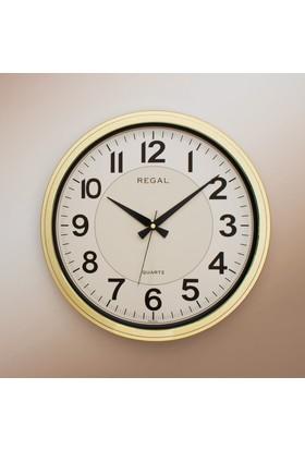 Regal 9105 GI Metalize Çerçeve 42 Cm Yuvarlak Duvar Saati