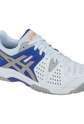 Asics W Gel Dedicate 4 Beyaz Mor Kadın Tenis Ayakkabısı