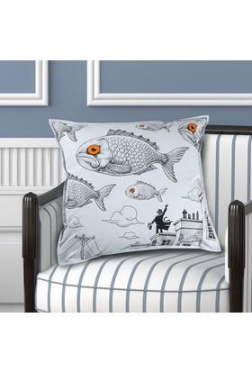Bujo Balık Desenli Yastık kılıfı