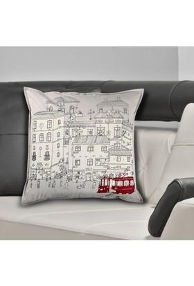 Bujo Taksim Desenli Yastık kılıfı