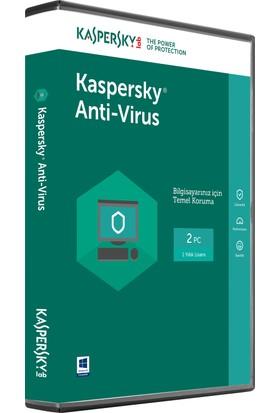 Kaspersky Antivirüs 2 Kullanıcı 1 Yıl (KAV2 2017)