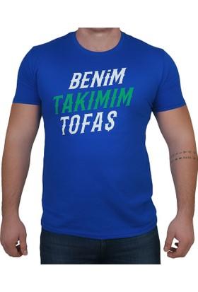 Tofaş Mavi Erkek Basketbol T-Shirt Rt TARAFTAR-TISO