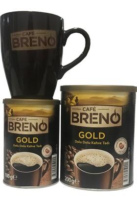 Cafe Breno Çifte Keyif Seti 200 gr Gold Ve 100 gr Gold Kahve Ve Kupa