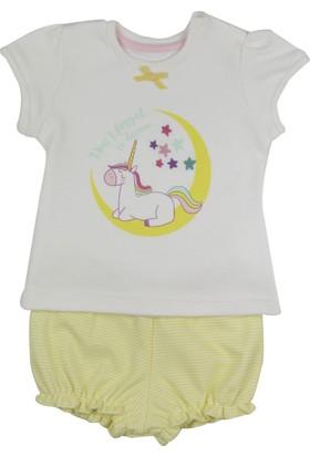 Baby Corner Şort Takım Unicorn Sarı
