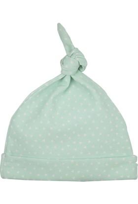 Baby Corner Üçgen Desenli Kukuleta Şapka Yeşil